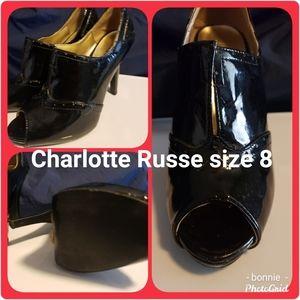 Black peep toe size 8